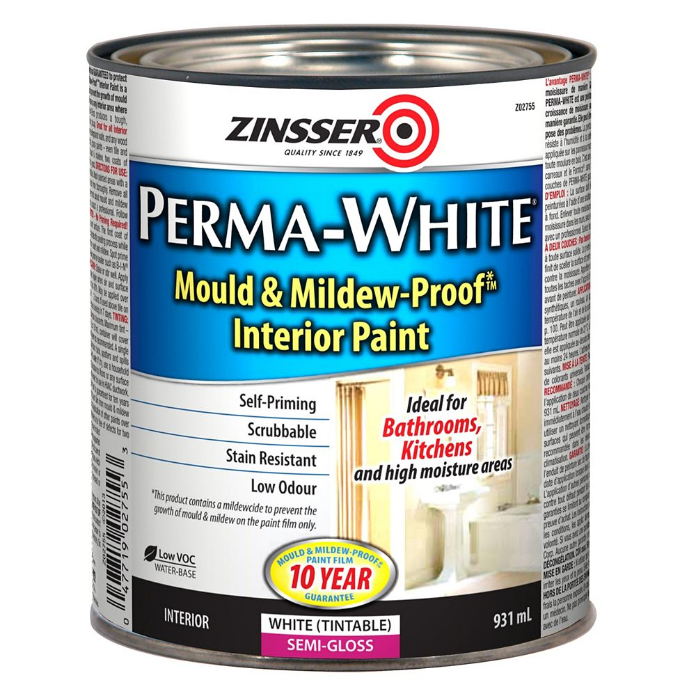 Zinsser Perma White Mould Mildew, Home Depot Bathroom Paint