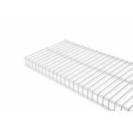 Linen 12-inch x 8 ft. Wire Shelf in White