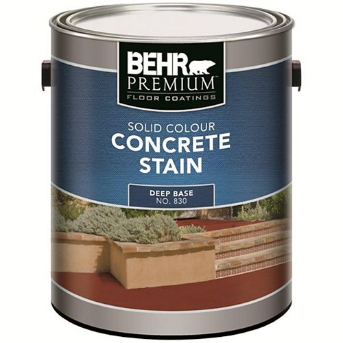 PREMIUM FLOOR COATINGS Solid Colour Concrete Stain - Deep Base, 3.43 L