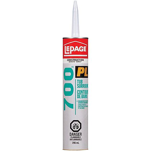 LePage LePage PL 700 Tub Surround Adhesive, 295 ml