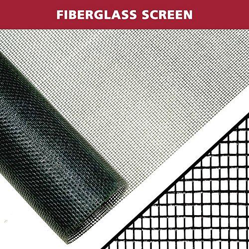 Everbilt 48-inch W x 25 ft. H Fiberglass Insect Screen in Black