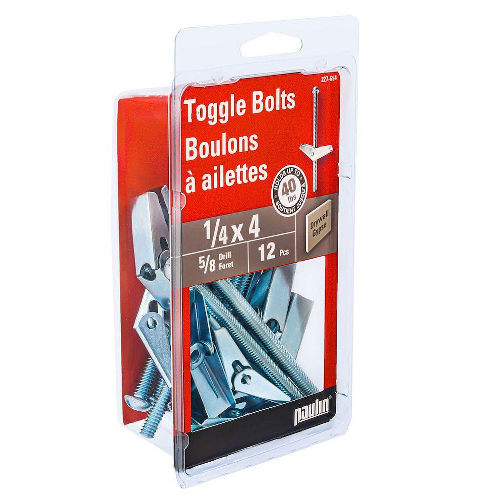 Paulin 1/4-inch x 4-inch Zinc Plated Toggle Bolt (Drill Size 3/4-inch)