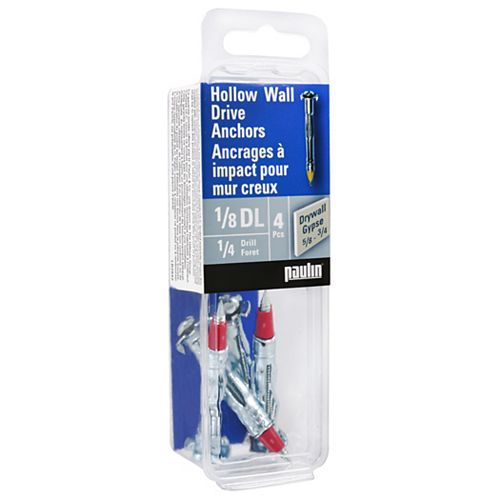 1/8 Hollow Wall Anchors