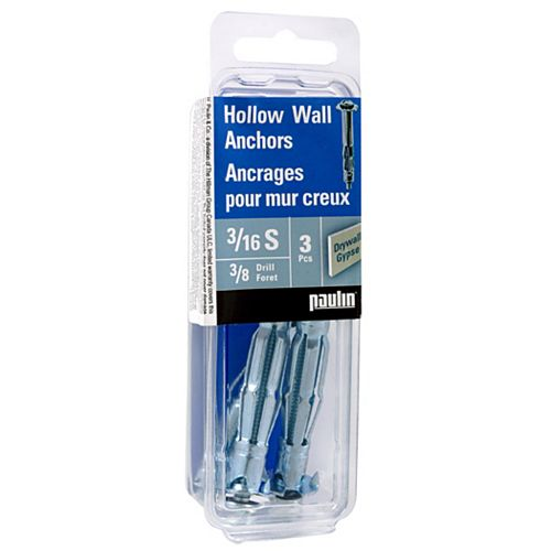 Papc 3/16S Hollow Wall Anchors