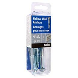3/16-inch L Hollow Wall Anchors-3pcs