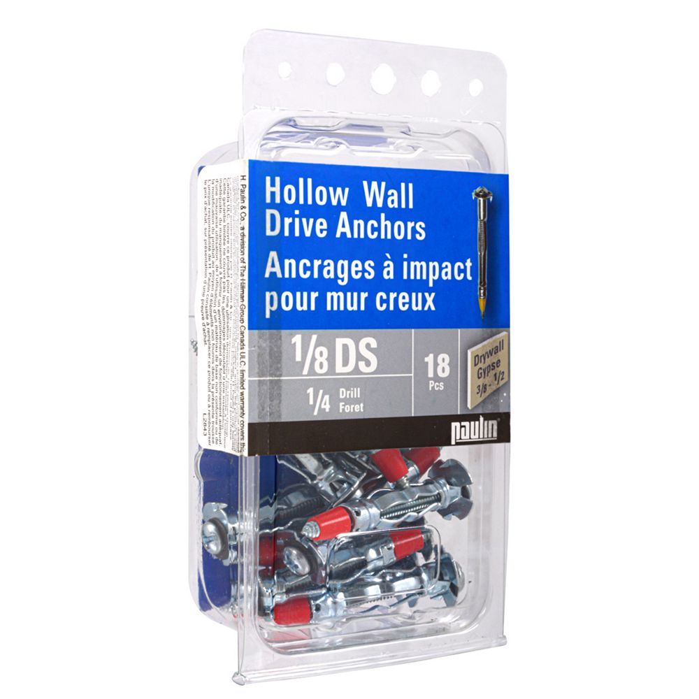 Paulin 1/8Ds Hollow Wall Anchors 18Pc
