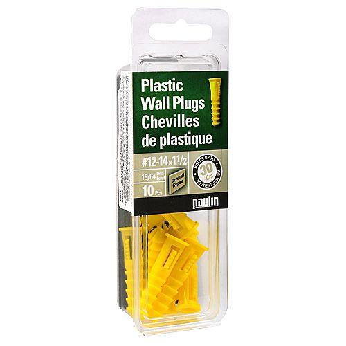 Paulin 12-14X1-1/2 Plast Anchor 10 pcs