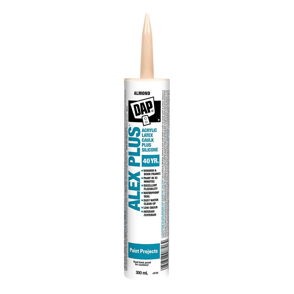 DAP ALEX PLUS Almond Acrylic Latex Caulk Plus Silicone - 162ml