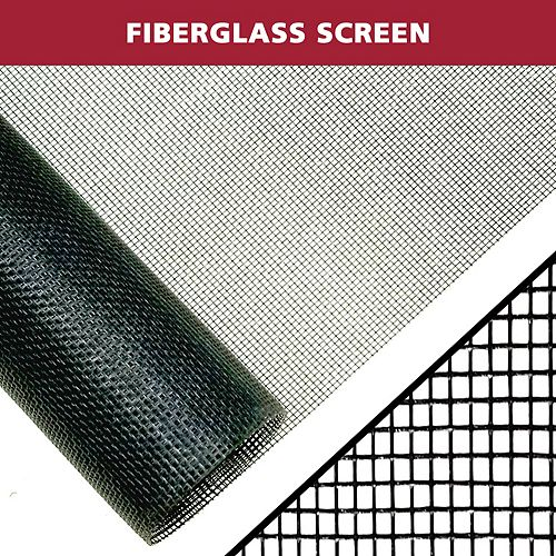 Everbilt 48-inch W x 100 ft. H Fiberglass Insect Screen in Black