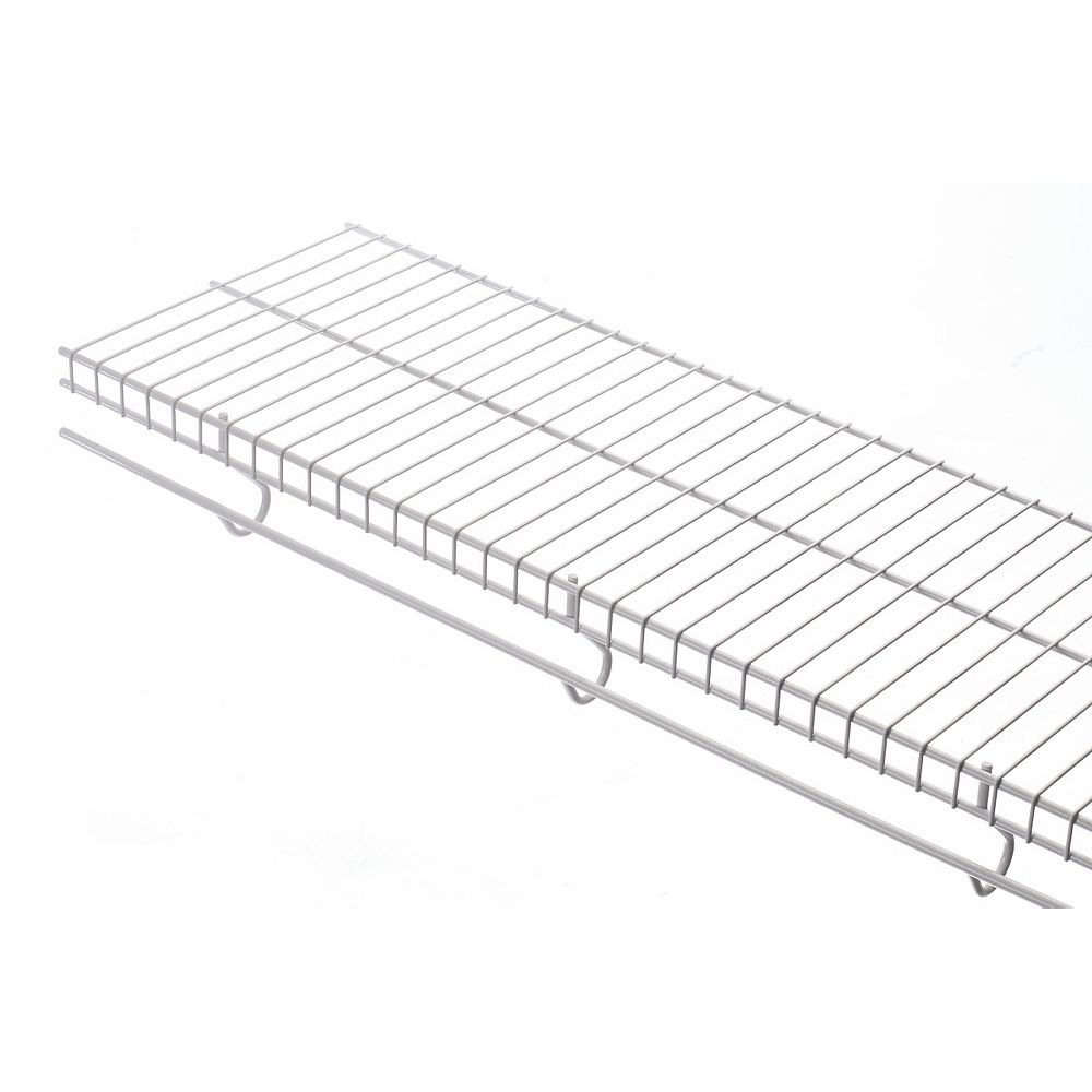Rubbermaid Freeslide 12-inch x 8 ft. Shelf in White