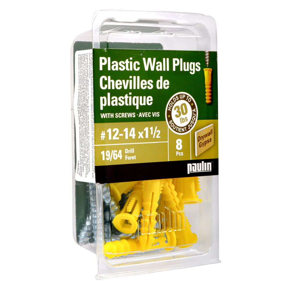 Paulin 12-14X1 1/2 Plastic Anchors with Screws