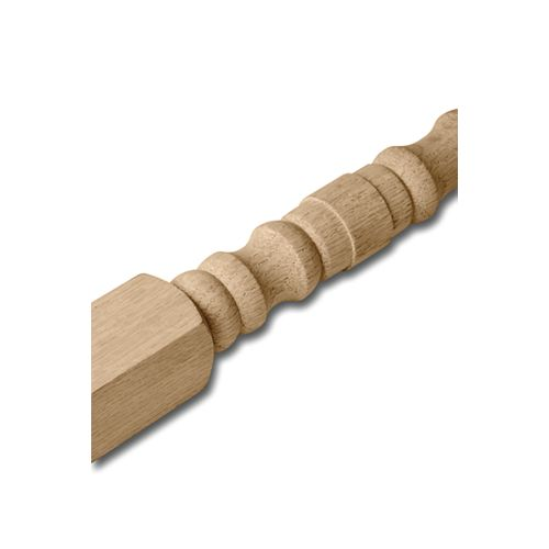 1 1/4-inch x 1 1/4-inch 36-inch Unfinished Oak Colonial Square Top Baluster
