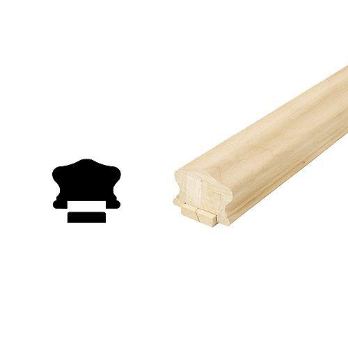 Paint Grade Handrail & Fillet 1-5/8 In. x 2-1/4 In. x 6 Ft.