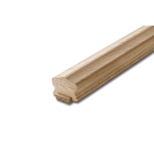 1 5/8-inch x 2 1/4-inch 10 ft. Unfinished Oak Handrail & Fillet