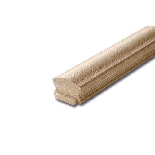 Alexandria Moulding 1 5/8-inch x 2 1/2-inch x 8 ft. Unfinished Oak Handrail & Fillet