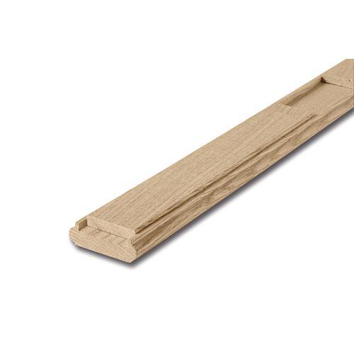 3/4-inch x 2 1/2-inch x 8 ft. Unfinished Square Oak Shoe Rail & Fillet