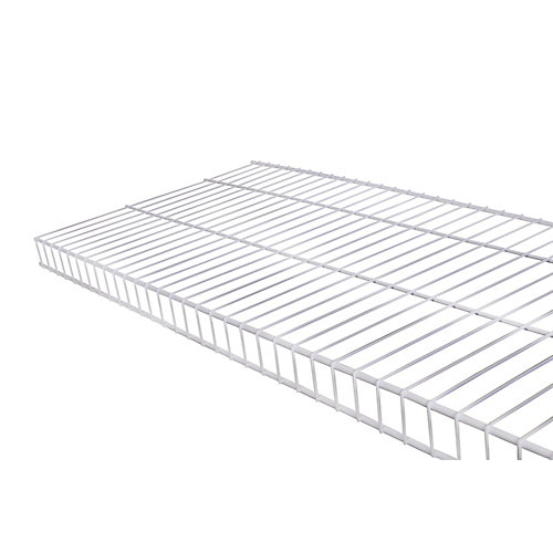 Linen 16-inch x 4 ft. Wire Shelf in White
