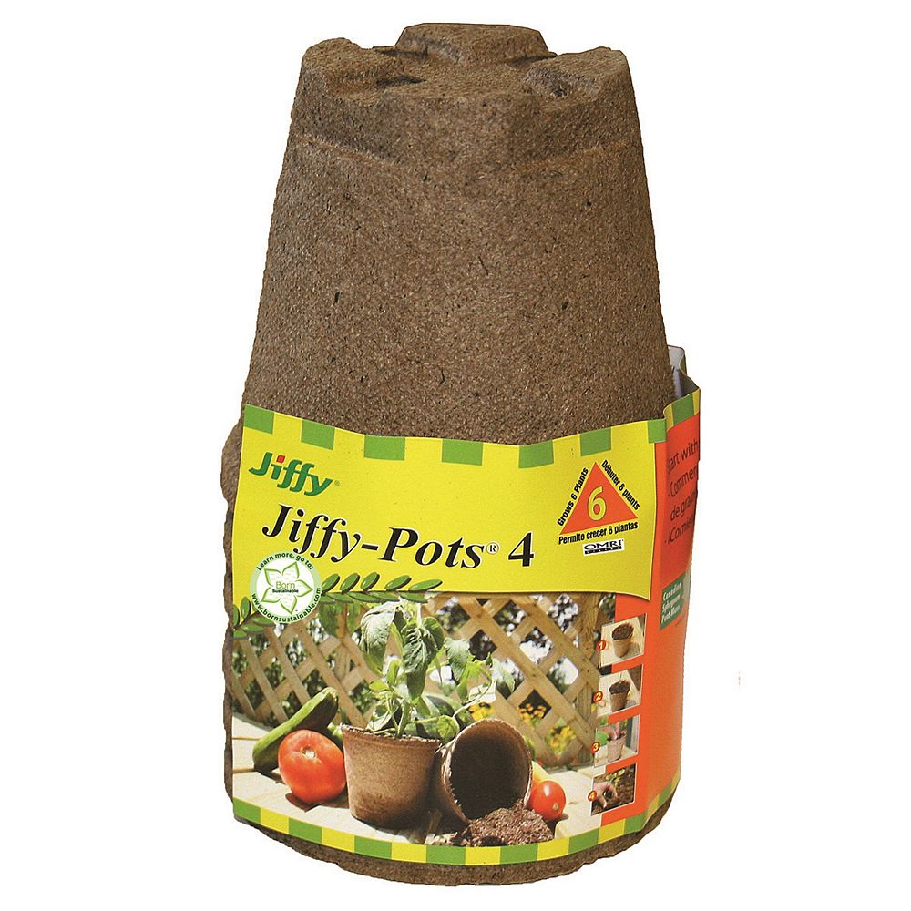 Jiffy Round Peat Pots, 6 Pack