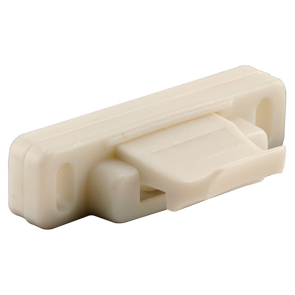 Prime-Line Verrou à ressort en plastique blanc pour fenêtre coulissante