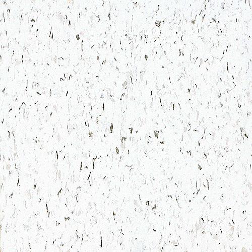Carreau de revêtement au sol, vinyle, 12 po x 12 po, Imperial Texture, blanc classique