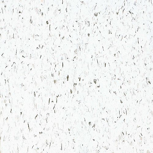 Armstrong Imperial Texture 12-inch x 12-inch Vinyl Tiles in Classic White