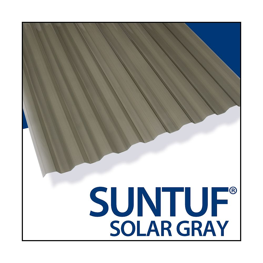 Suntuf Pan. Poly. Can 8' Gris Solaire