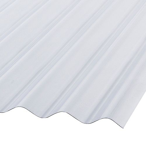 Corrugated PVC 8 ft. Clear Roofing Panels