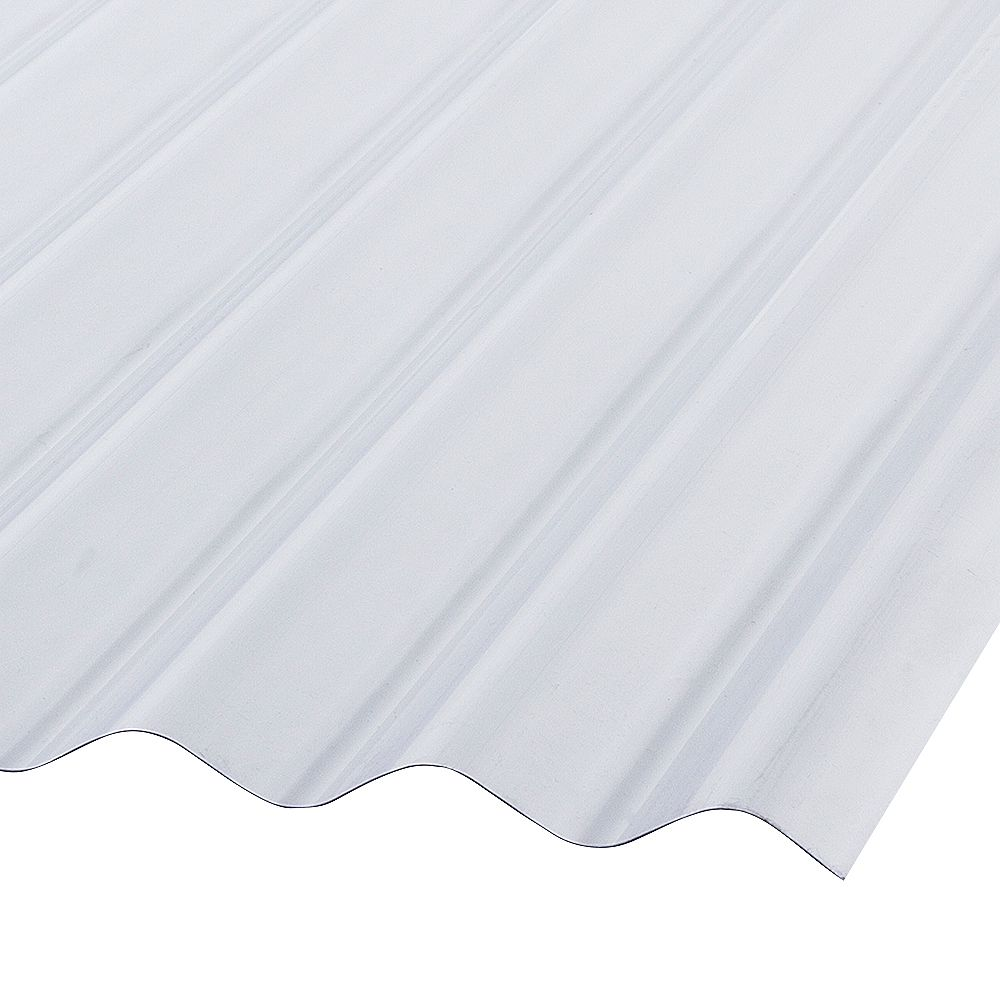 Palruf Corrugated Pvc 12 Ft Clear Roofing Panels The Home Depot Canada