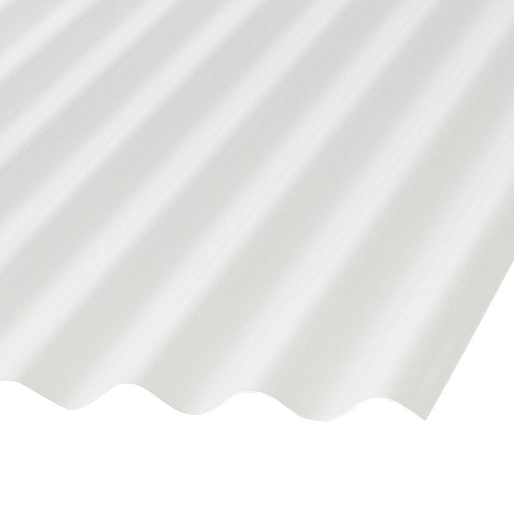 Palruf Pan. Ondulés En Pvc 12' Blanc Opaque