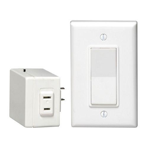 Leviton Anywhere Switch  Kit Switch /Plug-In,  White