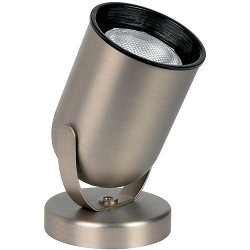 Lampe arrondie à éclairage vers le haut à 1ampoule, fini nickel brossé