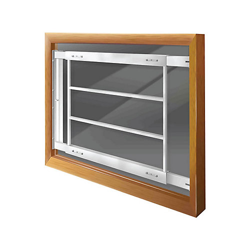 202 D 21-inch to 28-inch W Hinged Window Bar