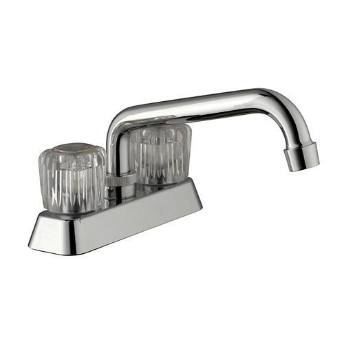 4-inch Centerset 2-Handle Laundry Faucet in Chrome