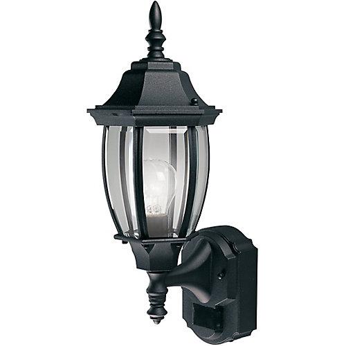 Lanterne de domaine de 180 degrés avec verre courbé biseauté- noir