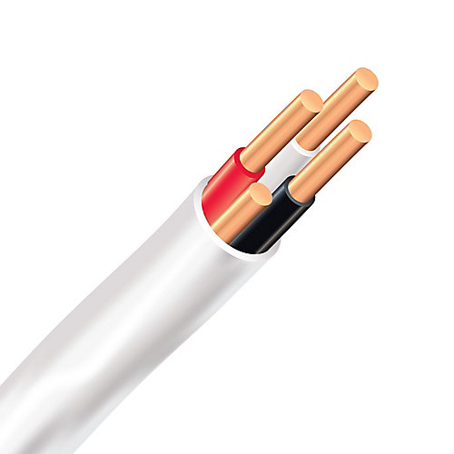 Electrical Cable Copper Electrical Wire Gauge 14/3 - Romex SIMpull NMD90 14/3 White - 10M
