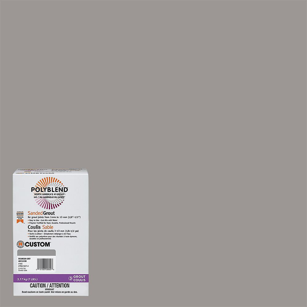 Custom Building Products #165 Delorean Gray - Polyblend Sanded Grout - 7lb