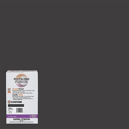 #60 Charcoal - Polyblend Sanded Grout - 7lb