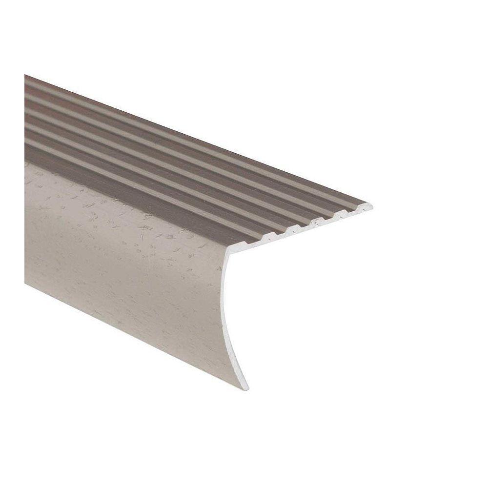 Shur Trim Stair Nosing Floor Moulding, Hammered Silver - 1-1/8 Inch