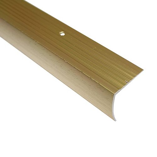 Stair Nosing Floor Moulding, Hammered Gold - 1-1/8 Inch
