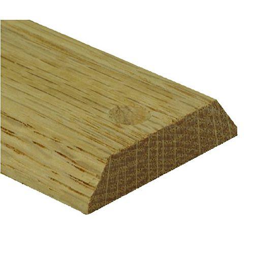 Red Oak Equalizer/Binder Bar Floor Moulding, Natural - 3/16in/1-1/2 Inch