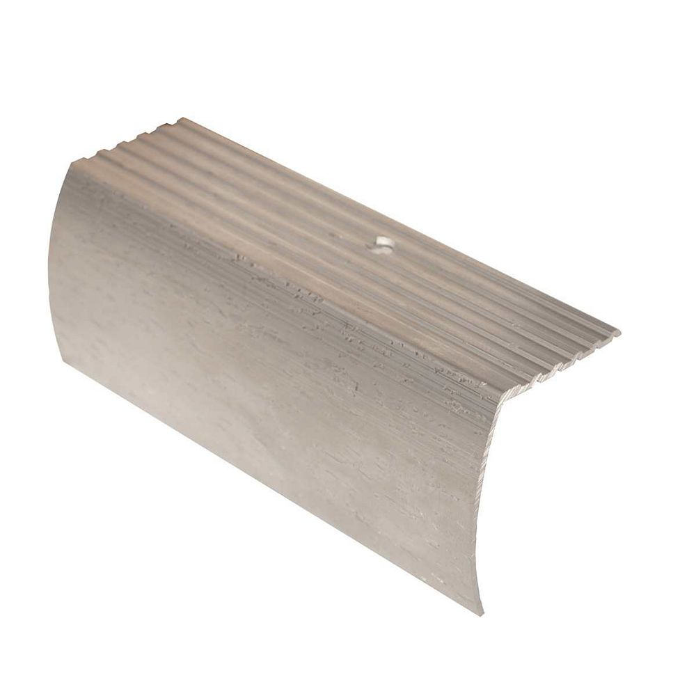 Shur Trim 1-5/8 Inch Residential Stair Nosing - 12Ft - Hammered Silver