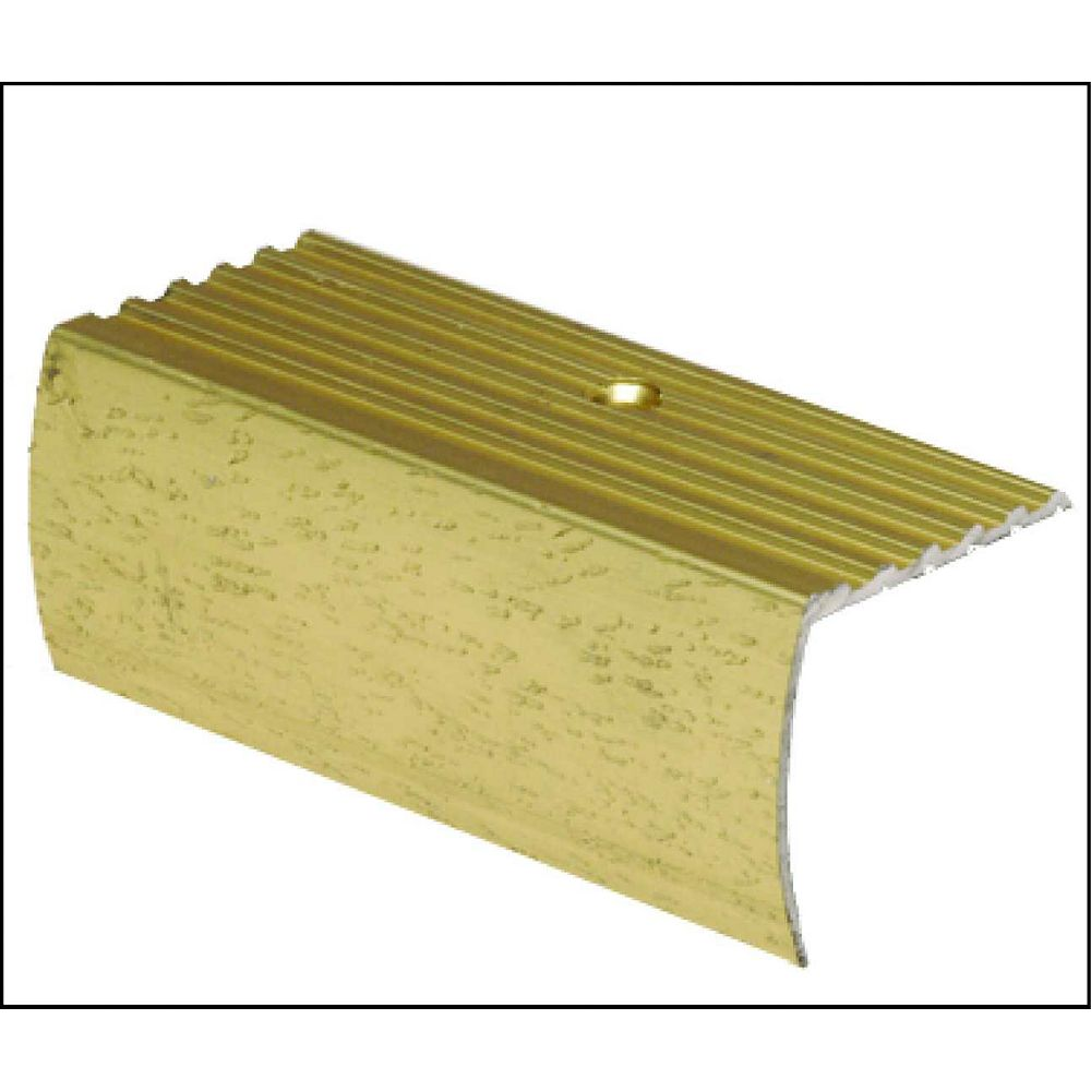 Shur Trim 1-5/8 Inch Residential Stair Nosing - 12Ft - Hammered Gold