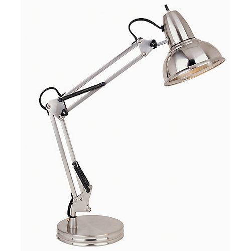 Swing-Arm Desk Lamp, Satin Chrome Finish