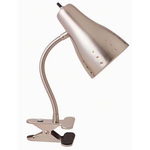 13-7/8-inch Satin Chrome Clip Lamp