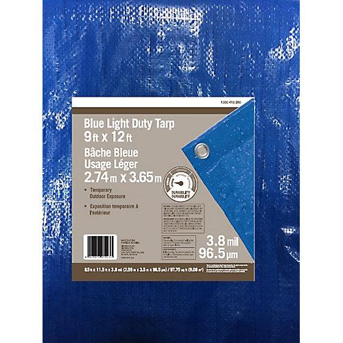 Blue Light Duty Tarp 9ft x 12ft