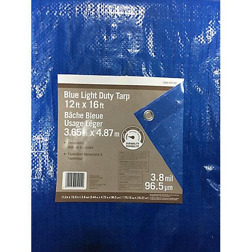 12 ft. x 16 ft. Blue Light Duty Tarp