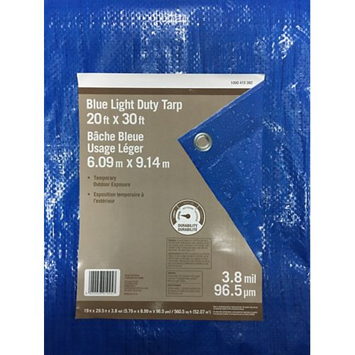 20 ft. x 30 ft. Light Duty Tarp in Blue