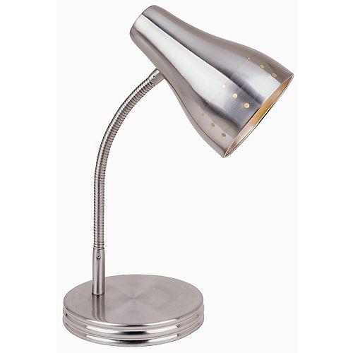 Lampe de bureau à commande tactile à 1ampoule, fini chrome satiné