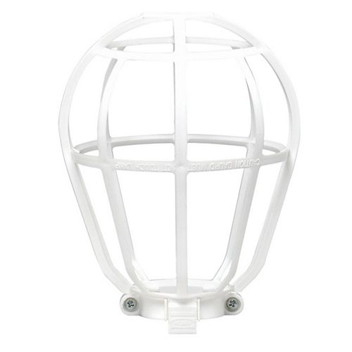 Guard Cage For Light Bulbs, White