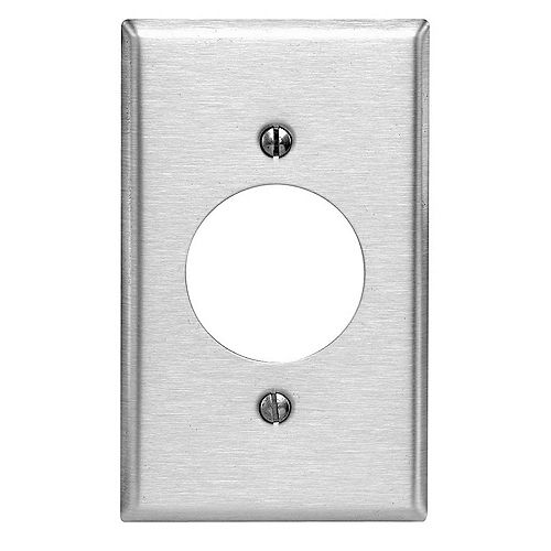 1-Gang Plate with 2.15 In. Hole Stainless Steel